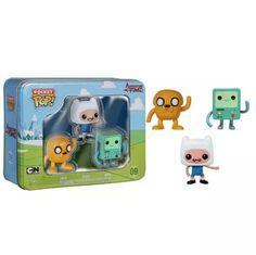 Funko Pocket Pop Adventure Time Mini Vinly Figure 3 Pack Tin Set