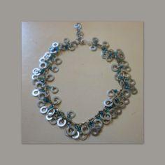 Carmen Veca Monili: Collana con catena,rondelle e cristalli