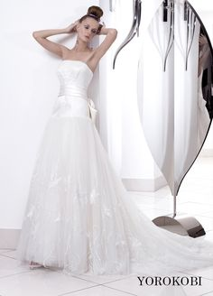 YOROKOBI One Shoulder Wedding Dress, Wedding Dresses, Fashion, Bride Dresses, Moda, Bridal Gowns, Fashion Styles, Weeding Dresses, Wedding Dressses