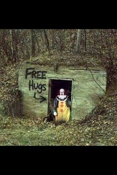Halloween is on the horizon and the Clowns are coming out to play, free hugs are available on this cold winter day.