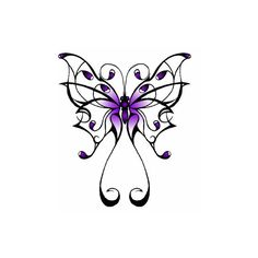 Tatoo Butterfly from Santee Alley the store ❤ liked on Polyvore