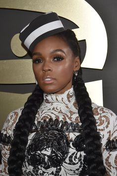 Pin for Later: See Every Angle of the Best Braids From the 2016 Award Season Janelle Monae at the Grammy Awards