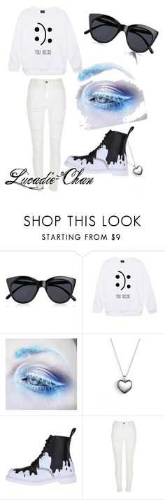 Looking fancy yet causal. by lucadie-chan on Polyvore featuring beauty, Medusa's Makeup, Le Specs, Pandora, River Island and Dr. Martens
