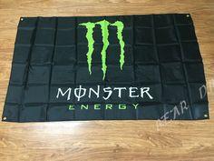 Monster Energy Bar Flag Slogan Sign Decor Banner Soda Drinking Flag Energy #Unbranded