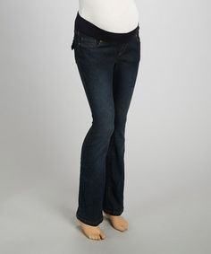 Vintage Denim Over-Belly Maternity Straight-Leg Jeans - Women | Daily deals for moms, babies and kids