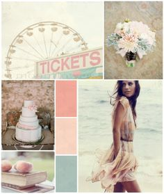 I know this is a wedding palette but I love this for my baby girls room colors.