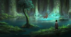 Princess Mononoke- Forest Spirit by BlackMagicLibra on DeviantArt Fantasy Forest, Fantasy World, Sac Tods, Princess Mononoke Wallpaper, Mononoke Forest, Spirit Drawing, Studio Ghibli Background, Tomb Raider Cosplay, Studio Ghibli Art