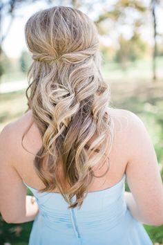 half up, big, soft curls Wedding Hairstyles, Cool Hairstyles, Soft Curls, How To Do Nails, Bridal Hair, Wedding Styles, Style Me, Hair Makeup, Wedding Day