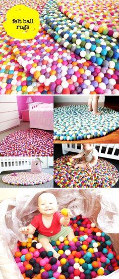 Original Larry DIY Felt Ball Rug For Babies - home decor, baby felt ball rug - LoveItSoMuch.com