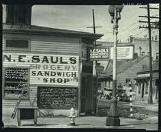 Street Scene, New Orleans, Louisiana, Walker Evans, 1935; printed later