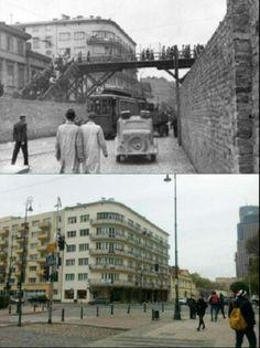 Then& Now Warsaw Ghetto, Warsaw, Poland