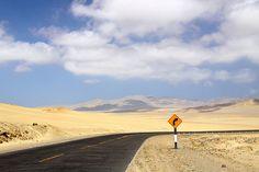 Crossing the desert of Paracas Peninsula #peru #travel