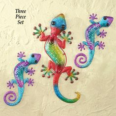 Geckos Wall Art - Set of 3