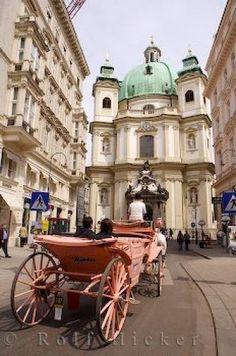 Peters Church (Peterskirche) in Vienna, Austria. the oldest Catholic Church in Vienna Beautiful Sites, Beautiful Places, Places To Travel, Places To See, Travel Local, Places Around The World, Around The Worlds, Wachau Valley, Viajes