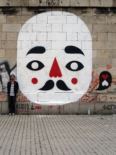 """1,1, my mask and I !"" by remed_art, via Flickr street artist. wall murals and painting"