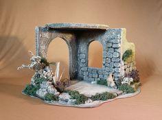 portal Nativity House, Nativity Stable, Diy Nativity, Christmas Nativity Scene, Christmas Carol, Christmas Holidays, Xmas, Christmas Crib Ideas, Christmas Crafts