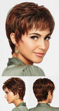 Hairxstatic: Crops & Pixies [Gallery 3 O - maallure Short Shag Haircuts, Short Choppy Hair, Short Hairstyles Fine, Short Thin Hair, Short Grey Hair, Short Hair With Layers, Wig Hairstyles, Older Women Hairstyles, Hair Styles For Women Over 50