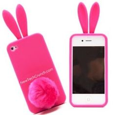 Pink Bunny Cute iPhone 5 Case for Girls Cute Iphone 5 Cases, Ipod 5 Cases, Iphone Cases For Girls, Cool Cases, Iphone Phone Cases, Iphone 5s, Pink Iphone, Phone Covers, Accessoires Iphone