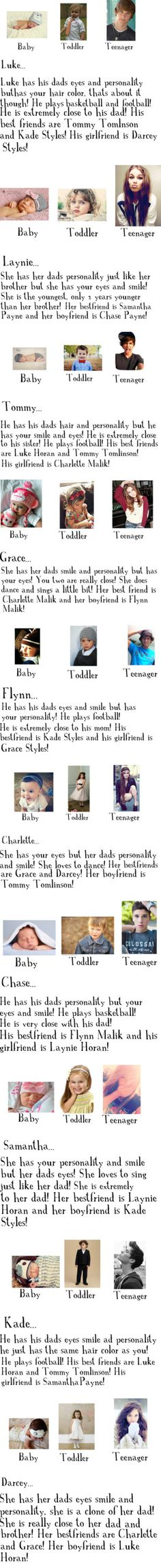 """Your kids with One Direction!!"" by jelec on Polyvore we have awesome kids and it's cool how they are dating one another lol"