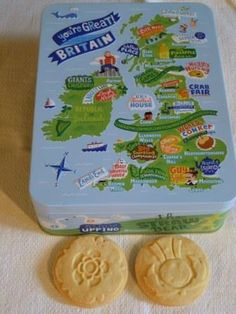 Rose and thistle biscuits (plus tin) - produced by Marks & Spencer.