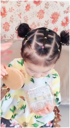 Toddler Hair Dos, Easy Toddler Hairstyles, Easy Little Girl Hairstyles, Cute Little Girl Hairstyles, Baby Girl Hairstyles, Kids Hairstyle, Infant Hairstyles, Hairstyle For Baby Girl, Hairstyles For Toddlers