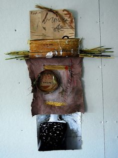 caught waiting, 2010  photograph, ink, reeds, linen, paint, ink, gouache, straw