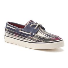 Sperry Top-Sider Bahama Green Navy Plaid Canvas Boat Shoe. I think this is my favorite pair of shoes I've ever had. May they rest in peace.