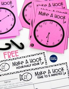 How To Produce Elementary School Much More Enjoyment Teaching Kids To Tell Time Past The Hour Can Be Challenging But It Doesnt Have To Be A Struggle For You Or Your Students. These Classroom-Tested Tips And Free Telling Time Activities And For An Telling Time Activities, Teaching Time, Teaching Math, Math Activities, Teaching Ideas, Math Resources, Math Tutor, Learn To Tell Time, Math Groups