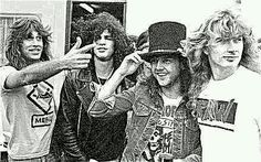 Jeff Young (Megadeth Guitarist), Slash (Lookin' Kinda Pissed Off About Hiz Hat), Lars Ulrich & Dave Mustaine~
