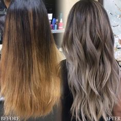 Ideas Hair Color Ombre Blonde Balayage Summer Curls For 2019 Cabelo Ombre Hair, Balayage Hair, Ash Blonde Hair Balayage, Hair Color And Cut, Brown Hair Colors, Hair Colour, Brown Hair With Ash Blonde Highlights, Ash Brown Ombre, Hair Colors