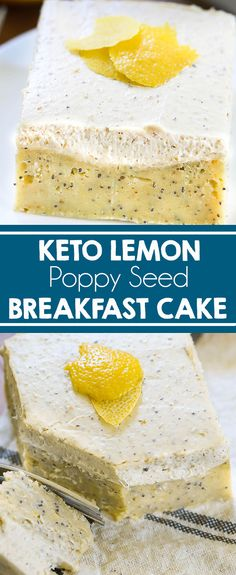 KETO Lemon Poppy Seed Breakfast Cake - Celebrate the arrival of spring with this keto friendly lemon cake. It's packed with healthy fats and protein. Low-carb cake without the guilt. Made with Better Body Foods LIVfit Superfood® Organic Superfood Blend! #keto #lowcarb #protein #ad