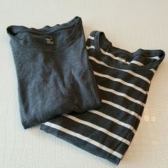 "GAP Supersoft Long Sleeve Shirts A bundle of two cozy and comfy long sleeve shirts. Yes, they actually are ""supersoft""! Each has been worn a couple of times and are both in great condition. Priced to sell, will not sell separately. GAP Tops"