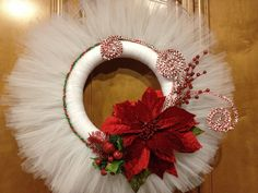 Tulle Christmas Wreath made by my talented friend Mary!!!