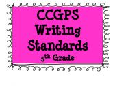 CCGPS Writing Standards 5th Grade   Awesome resource for the new Common Core standards!