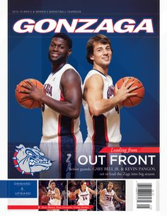 The Official 2014-15 Gonzaga Basketball Yearbook features Gary Bell Jr., Kevin Pangos, Keani Albanez, Sunny Greinacher and Lindsay Sherbert on the cover. Inside features include Mark Few Q&A, Gary Bell Jr.: One Last Chance, Kevin Pangos: Writing the Last Chapter, Top Five NCAA Tournament Games, Lisa Fortier Q&A, Haiden Palmer: Forging Her Way and many more player features. #GoZags #Gonzaga Gonzaga Basketball, Gonzaga University, One Last Chance, Help Refugees, Ncaa Tournament, Team Player, Latest Books, My Happy Place, Spokane Washington