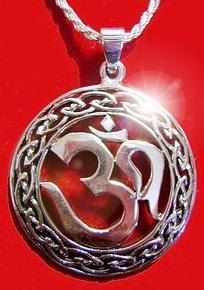 celtic infinity knot hindu om silver 925 charm pendant Real Sterling silver 925 pendant Charm jewelry. $40.64, via Etsy.