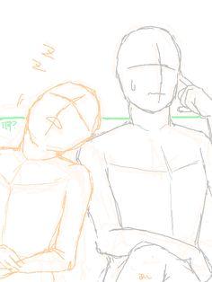 Ship Drawing, Drawing Base, Couple Drawings, Art Drawings Sketches, Drawing Prompt, Drawing Tips, Drawing Body Poses, Manga Poses, Anime Poses Reference