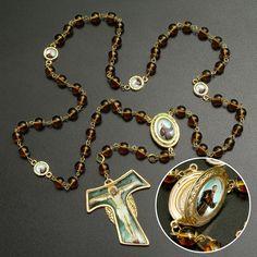 Terço São Francisco de Assis com Pedras em Cristais - Nossa Sagrada Família 67040ac9d8