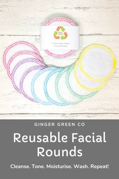 Reusable cotton facial rounds. Use the super soft cotton flannel side to cleanse and tone, and the cotton towelling side for gentle exfoliation. Then throw in the washing machine and use again and again! Gentle on you and the planet. Reusable Facial Rounds / Cotton Pads / Make Up Wipes / Zero Waste / Eco Friendly Cotton Pads, Cotton Towels, Make Up Remover, Eye Makeup Remover, Wash Your Face, Face Care, Zero Waste