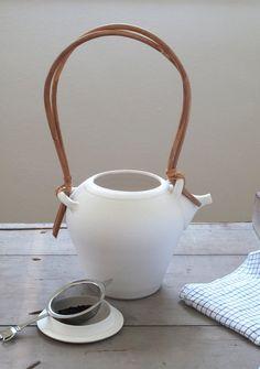 vintage ceramic teapot by cottagefarm on Etsy