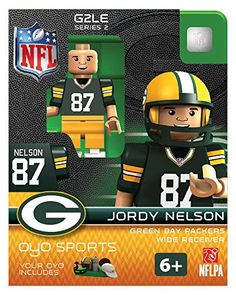 Jordy Nelson Oyo Green Bay Packers Nfl Mini Figure Lego Compatible New G2