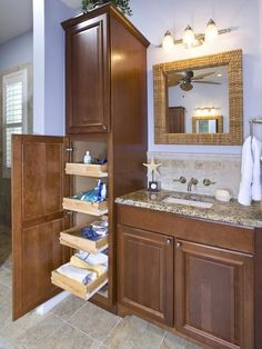 18 Savvy Bathroom Vanity Storage Ideas