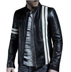 76d494cd54c1 New Style Mens Lambskin Leather Black Slim Fit Motorcycle Biker Jackets