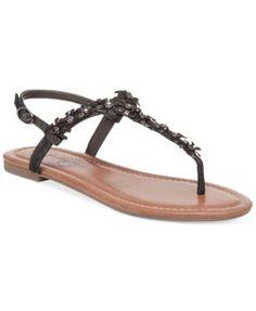 79c60aed7ec7 Jessica Simpson Riel Flower Detail Flat Sandals   Reviews - Sandals   Flip  Flops - Shoes - Macy s