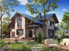 3d визуализация кирпичных домов