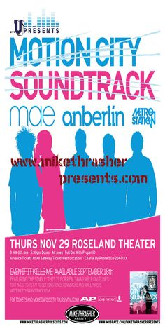 Motion City Soundtrack in Columbus Ohio @ Newport Music Hall 2007 was AWESOME!