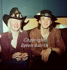 johnny winter with SRV …great pic