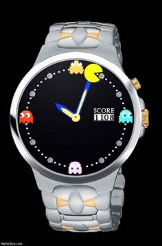 I don't usually like watches but I would wear this PacMan watch every single day!