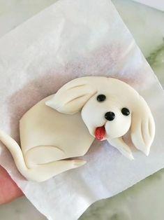DIY Creative Dough Video Tutorial-Cute Puppy Cake Decorating Frosting, Cake Decorating Videos, Cake Decorating Techniques, Cookie Decorating, Fondant Cake Designs, Fondant Cake Toppers, Amazing Food Art, Food Art For Kids, Creative Food Art