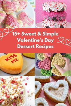 Everyone loves a sweet treat for Valentine's Day. A delicious collection of easy Valentine's Day dessert recipes - all kind of baked treats. #valentinesdaydessert #valentinesdaycookies #valentinesdaybakingideas #valentinesdaybaking #kitchencounterchronicles Valentines Day Desserts, Easy Desserts, Delicious Desserts, Dessert Recipes, Cooking With Kids, Fun Cooking, Beautiful Desserts, No Bake Treats, Recipe For 4